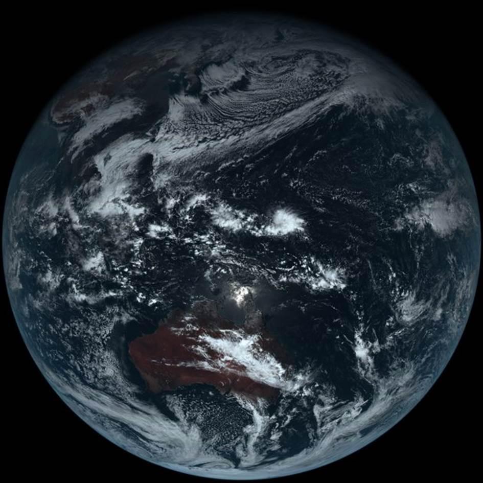 日气象卫星照 还原地球真实样貌